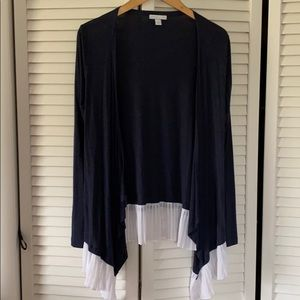 New York & Company Blue and White Sweater